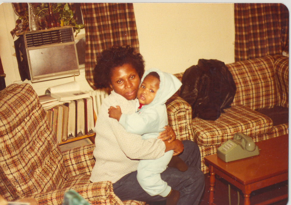 A young Tunde with my mother.