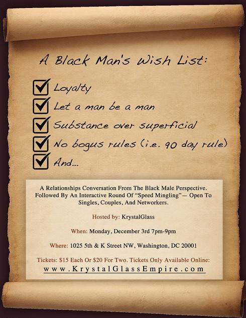 A Black Man's Wish List