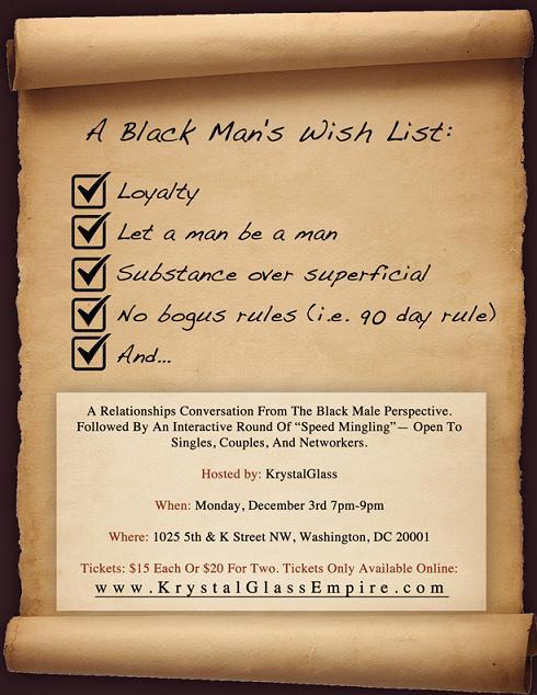 A Black Man's Wish List