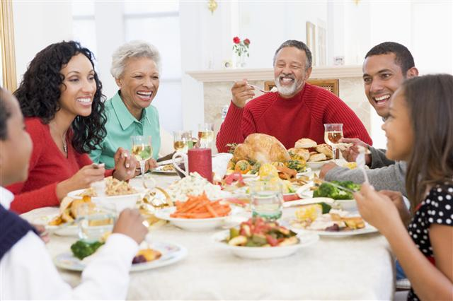 black-family-having-dinner