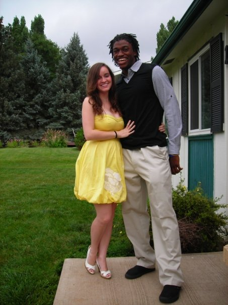 RGIII and his fiancee.