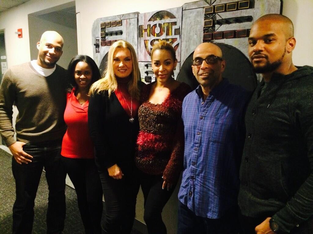 Rich (on far left looking jolly) was at Hot97 this past Sunday to discuss online dating.