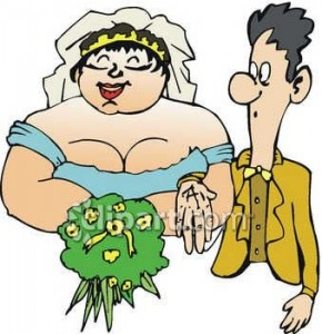 0060-0806-2517-3721_fat_bride_with_a_skinny_groom_clipart_image