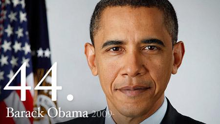 44th President – Barack Obama