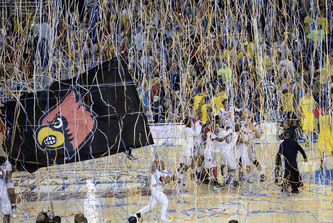 NCAA Basketball: NCAA Tournament-Michigan vs Louisville