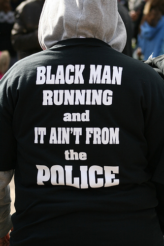black man running