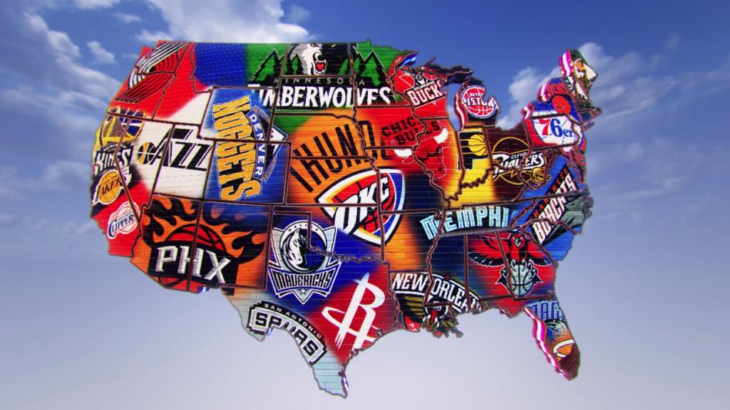 Readjusting The NBA Championship Contenders At The AllStar Break - Us map nba teams